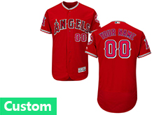 Mens Mlb Los Angeles Angels Custom Made Red Flex Base Jersey
