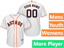 Mens Womens Youth Majestic Houston Astros White Cool Base Current Player Jersey