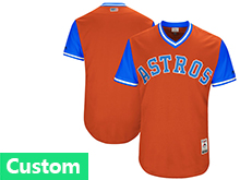 Mens Mlb Majestic Houston Astros Custom Made Orange 2017 Players Weekend Jersey