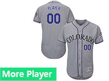 Mens Majestic Colorado Rockies Gray Flex Base Current Player Jersey