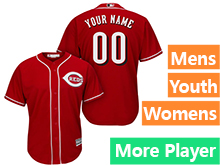 Mens Womens Youth Majestic Cincinnati Reds Red Cool Base Current Player Jersey