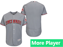 Mens Majestic Cincinnati Reds Gray Flex Base Current Player Jersey
