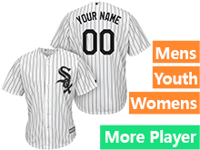 Mens Womens Youth Majestic Chicago White Sox White Stripe Cool Base Current Player Jersey