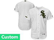 Mens Majestic Chicago White Sox Custom Made White 2017 Memorial Day Flex Base Jersey