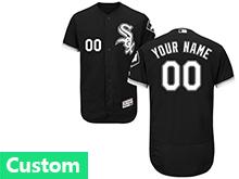 Mens Majestic Chicago White Sox Custom Made Black Flex Base Jersey