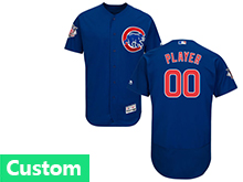Mens Majestic Chicago Cubs Custom Made Blue Flex Base Jersey