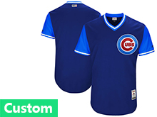 Mens Majestic Mlb Chicago Cubs Custom Made Navy 2017 Players Weekend Jersey