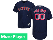 Mens Majestic Boston Red Sox Navy Flex Base Jersey