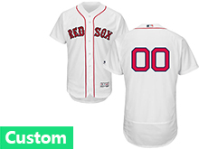 Mens Majestic Boston Red Sox Custom Made White Flex Base Jersey