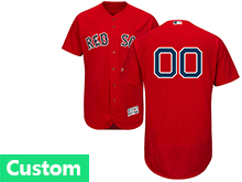 Mens Majestic Boston Red Sox Custom Made Red Flex Base Jersey