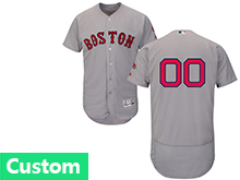 Mens Majestic Boston Red Sox Custom Made Gray Flex Base Jersey
