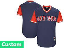 Mens Majestic Boston Red Sox Custom Made Navy 2017 Players Weekend Jersey