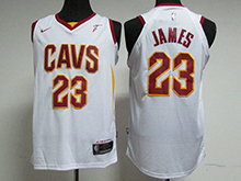 Mens Nba Cleveland Cavaliers #23 Lebron James White Nike Jersey