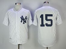 Mens Mlb New York Yankees #15 Thurman Munson White 1973 Throwbacks Jersey(no Name)