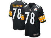 Mens Nfl Pittsburgh Steelers #78 Alejandro Villanueva Black Game Jersey