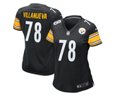 Women Nfl Pittsburgh Steelers #78 Alejandro Villanueva Black Game Jersey