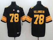 Mens Pittsburgh Steelers #78 Alejandro Villanueva Black Color Rush Limited Jersey