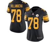 Women Youth Pittsburgh Steelers #78 Alejandro Villanueva Black Color Rush Limited Jersey