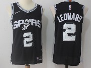 Mens Nba San Antonio Spurs #2 Kawhi Leonard Black Nike Jersey
