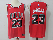 Mens Nba Chicago Bulls #23 Michael Jordan Bulls Red Authentic Nike Cotton Jersey