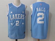 Mens Nba Los Angeles Lakers #2 Lonzo Ball Blue Nike Jersey