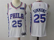 Mens Nba Philadelphia 76ers #25 Ben Simmons White Nike Jersey