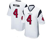 Mens Houston Texans #4 Deshaun Watson Nike White 2017 Draft Pick Game Jersey
