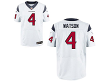 Mens Houston Texans #4 Deshaun Watson Nike White 2017 Draft Pick Elite Jersey