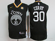 Mens Nba Golden State Warriors #30 Stephen Curry Black The Town Nike Jersey