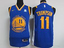 Mens Nba Golden State Warriors #11 Klay Thompson Blue Nike Jersey