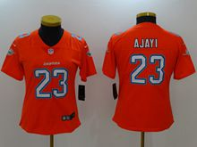 Women Nfl Miami Dolphins #23 Ajayi Orange Vapor Untouchable Color Rush Limited Player Jersey