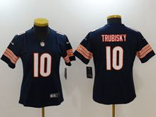 Women Nfl Chicago Bears #10 Mitchell Trubisky Blue Vapor Untouchable Limited Jersey