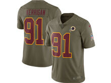 Mens Women Youth Nfl Washington Redskins #91 Ryan Kerrigan Green Olive Salute To Service Limited Nike Jersey