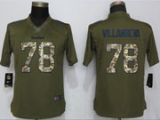 Women Pittsburgh Steelers #78 Alejandro Villanueva Green Salute To Service Limited Jersey