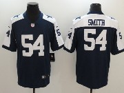 Mens Dallas Cowboys #54 Jaylon Smith Blue Thanksgiving Vapor Untouchable Limited Jersey
