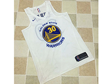 Mens Nba Golden State Warriors #30 Stephen Curry White Nike Thick Stitch Jersey