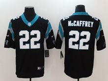 Mens Nfl Carolina Panthers #22 Christian Mccaffrey Black Vapor Untouchable Limited Jersey