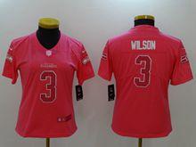 Women Nfl Seattle Seahawks #3 Russell Wilson Pink Vapor Untouchable Limited Jersey