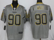 Mens Nfl Pittsburgh Steelers #90 T. J. Watt Lights Out Gray Elite Jersey