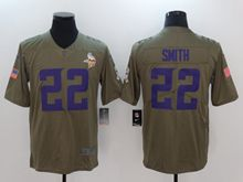 Mens Women Youth Nfl Minnesota Vikings #22 Harrison Smith Green Olive Salute To Service Limited Nike Jersey