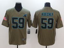 Mens Women Youth Nfl Carolina Panthers #59 Luke Kuechly Green Olive Salute To Service Limited Nike Jersey