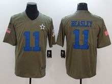 Mens Women Youth Dallas Cowboys #11 Cole Beasley Green Olive Salute To Service Limited Nike Jersey