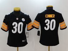 Women Youth Nfl Pittsburgh Steelers #30 James Conner Black Vapor Untouchable Limited Jersey