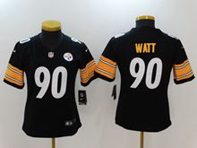 Women Youth Nfl Pittsburgh Steelers #90 T. J. Watt Black Vapor Untouchable Limited Jersey