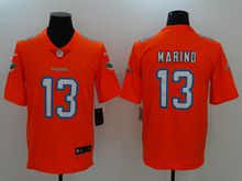 Mens Miami Dolphins #13 Dan Marino Orange Vapor Untouchable Color Rush Limited Player Jersey