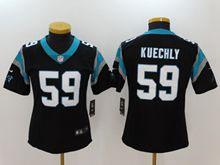 Women Nfl Carolina Panthers #59 Luke Kuechly Black Vapor Untouchable Limited Jersey