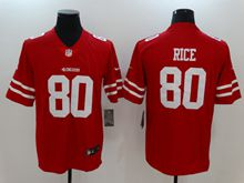 Mens Women Nfl San Francisco 49ers #80 Jerry Rice Red Vapor Untouchable Limited Jersey