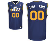 Mens Nba Utah Jazz Custom Made Dark Blue Icon Edition Adidas Jersey