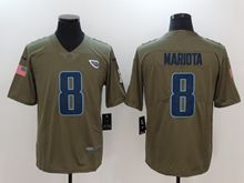 Mens Tennessee Titans #8 Marcus Mariota Green Olive Salute To Service Limited Nike Jersey