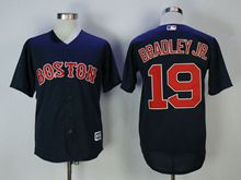 Mens Mlb Boston Red Sox #19 Jackie Bradley Jr. Blue Cool Base Jersey